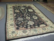 Hand Knotted Wool Tibetan Tibet Nepal Nepalese Area Rug Carpet Green 5'-9 x 8'-9