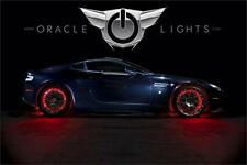 Oracle LED Illuminated Wheel Rings Rim Light Kit w/ Switch (Red)