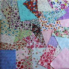 "Fabric bundle of 20 assorted pieces 5"" square Poly-Cotton Cotton Flowers Craft"