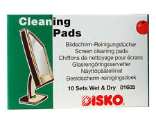 DISKO CLEANING PADS - ANTI STATIC WET DRY WIPES - 10 TANDEM PACKS