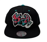 San Antonio Spurs Mitchell & Ness Graffiti Script Adjustable Snapback Hat Cap