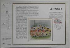 Document philatélique CEF Soie 651 1er jour 1982 Le Rugby