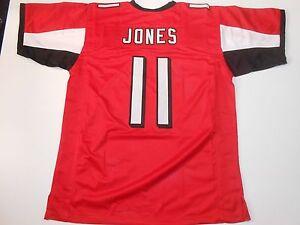 UNSIGNED CUSTOM Sewn Stitched Julio Jones Red Jersey - M, L, XL, 2XL