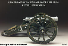 Artillery cannon Tin toy soldier 54 mm figurine metal sculpture HAND PAINTED