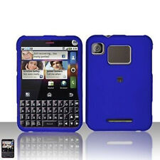 Rubber Blue Hard Case Cover for Motorola Charm MB502