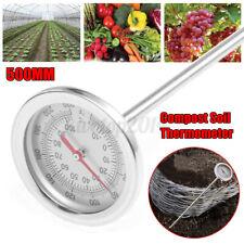 Compost Soil Thermometer Garden w/ 20'' Bimetal Stainless Steel Measuring Probe