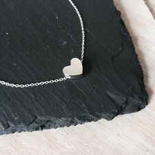 925 Sterling Silver simple heart bracelet (7 - 8 inches)