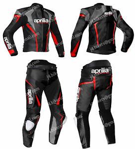 APRILIA Racing Motorbike Leather Suit Motorcycle Leather Biker Jacket Trouser