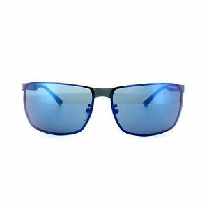 Police Sunglasses S8959 Cube 6 8V7B Matt Black Blue Mirror