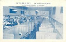 Walsenburg Colorado~Alpine Rose Cafe Interior~Booths~B&W 1940s Postcard