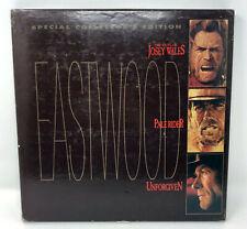 Collector Edition EASTWOOD 4 Laserdisc Box Set Pale Rider Unforgiven Josey Wales
