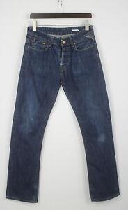 REPLAY SLOHAND M 925 Men's W31/L34 Medium Rigid Straight Blue Jeans 24815-JS