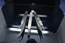 3 piece carbon fiber tipped anti static tweezers fits iphone,nokia