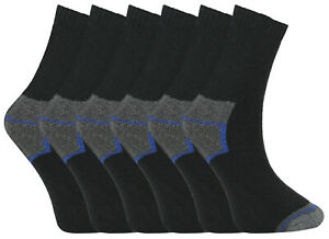 6 Pairs Boys Thermal Socks Colored Heel Toe Sock Thick Warm Winter Sox Size 4-6