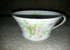 Thomas Haviland French Limoges Tea Cup China Apple Blossums Pink Flowers Coffee