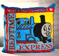 """THOMAS THE TRAIN Tank Engine Plush SLEEP BEDTIME EXPRESS Pillow 15"""" x 15"""" RARE"""