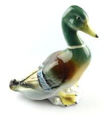 #e4830 Riesige Porzellanfigur sitzende Ente von Gräfenthal
