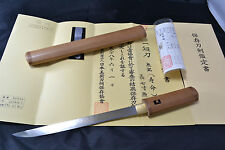 Japanese Samurai real sword Tanto sharp steel blade shirasaya by Jumyo antique