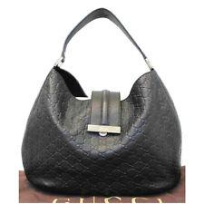 GUCCI Hobo Guccissima monogram brown leather bag