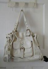 Ri2K White Leather Bag