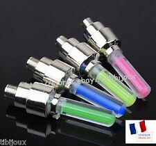 2 Bouchons De Valve LED Lumineux Multicolore Voiture Moto Scooter Vélo