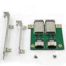 2 port Internal SFF-8087 to External 8088 PCI mini SAS 26P Adapter SAS RAID