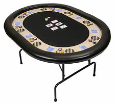 Riverboat P8 Poker Table with Black Speed Cloth Folding Legs and Armrest 152cm