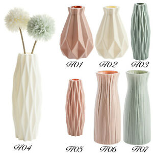 Macaron Color Creative Nordic Plastic Small Vase Home Decoration Ornaments cld