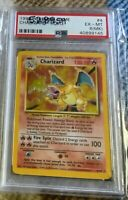 1999 Pokemon Base Set Unlimited CHARIZARD 4/102 PSA 6 EX-MT