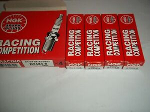 Pack of 4 NGK R7434-8 (Stock # 4892) Racing Competition Spark Plugs