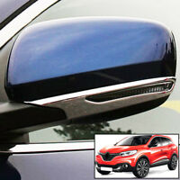 For Renault Kadjar 2015- Chrome Side Door Rearview Mirror Strip Cover Bezel Trim