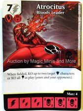 War of Light ATROCITUS Bloody Leader #108 rare Dice Masters DC card Wizkids