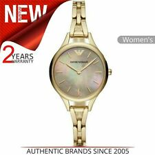 Emporio Armani Aurora Ladies Watch AR11140¦Mother of Pearl Dial¦Stainless Strap