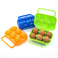 Egg Box Storage Container Outdoor Food Holder Carry Lunch Organizer Tray Case