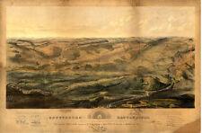 Gettysburg battle-field PA c1863 map 36x24