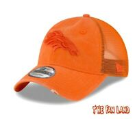 New NFL Denver Broncos Tonal Washed Mens Trucker Snapback Hat Cap