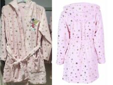 Ladies Girls Womens TINKERBELL Fleece Hooded Dressing Gown Bath Robe Size 6-8