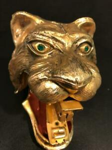 TED ARNOLD TIGER HEAD RARE VINTAGE 1960s GOLD PLATED STAPLER