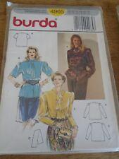 PATRON BURDA BLOUSE A JABOT/CRAVATTE /MONTANT TAILLLE  38 AU 48 N° 4965
