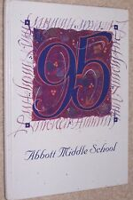 1995 Abbott Middle School Yearbook Annual West Bloomfield Michigan MI