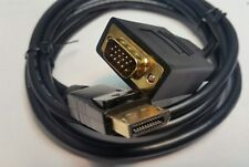 Display Port Male to VGA Male 6 Ft Cable, Gold-Plated Cord, DP to VGA 6Ft DP_VGA