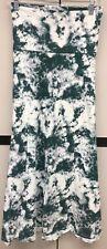 NEW LuLaRoe 2XL White Dark Green Gray Tie Dye Cotton Blend Maxi Skirt Dress