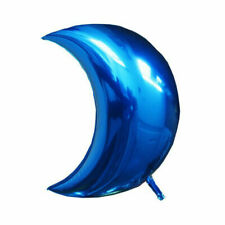 3X Blue Baby Boy Girl Half Moon Foil Balloons For Birthday Party Decorations