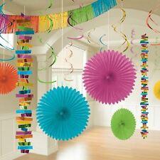18pk Multi Colour Room Decoration Kit Birthday Wedding Party Hanging Decorations