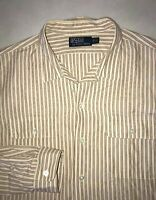 Men's Ralph Lauren Polo Button Down Shirt Size XL Striped Top