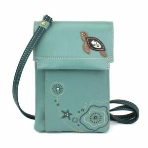 New CHALA CRISS Cellphone Xbody RFID Convertible SEA TURTLE Teal Blue Green gift