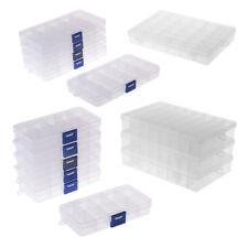 10/15/24/36Grid Plastic Compartment Jewelry Adjustable Organizer Storage Box