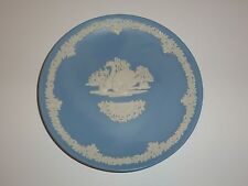 Wedgwood Blue Jasperware 'Mother 1978' Plate, Swan and Babies