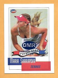 "MARIA SHARAPOVA 2002 1ST EVER PRINTED ""LIMITED EDITON OF 250"" ROOKIE CARD"