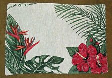 Tropical Garden ~ Palms Hibiscus Tapestry Placemat